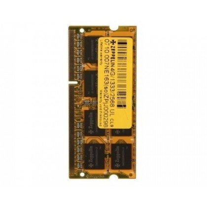 SODIMM ZEPPELIN DDR3/1600 4096M (life time, dual channel) low voltage (ZE-SD3-4G1600V1.35)