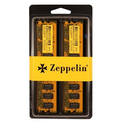 Zeppelin 2GB DDR 400MHz Dual-Channel Kit Retail (ZE-DDR2G400-KIT)
